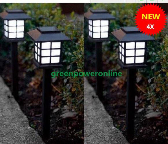 4xOutdoor Solar Oriental LED Lawn Path yard Garden Light Landscape Stake Lamp