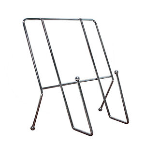 Metal Square Cook Book Stand Rack Recipe Silver Holder Kitchen Display Rest