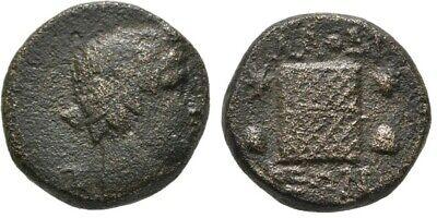 Roman: Republic (300 Bc-27 Bc) Fashion Style Rare Ancient Rome 1 Cent Bc Phrygia Laodicea Dionysos Cista Mystica