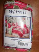 My World Standard Sham 20 X 26 Pink Green Lantana