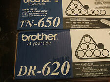 BRAND NEW  2 pack brother 1 tn 650 1 dr 620 genuine oem tn650 open box new dr620