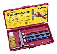Lansky 3-hone Sharpening System Knife Sharpener Kit 3 Hones, Sharp Blade Edge