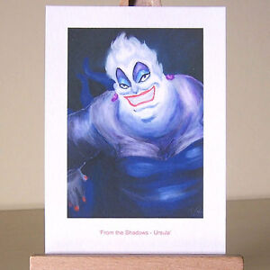 Little-Mermaid-villain-WDCC-Ursula-drawing-in-oil-painting-style-ACEO-art-card