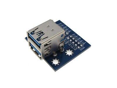 USB 3.0 Type A Double Female Breakout Board Module 8-Pin 2.54mm Header