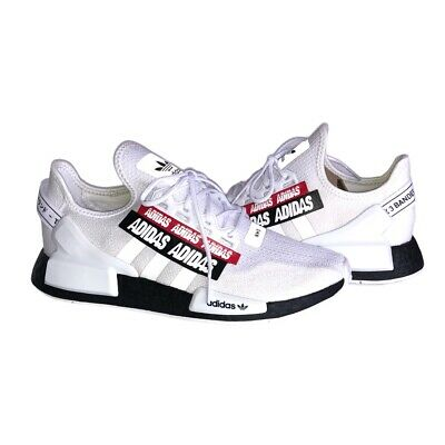 Adidas NMD R1 V2 H02537 'Overbranded' White Black Red Men's Size 9.5 DS NWB | eBay