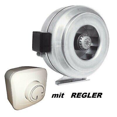 Radialer Rohrventilator VK Ø 100//125 U1 mit Temperatur und-Drehzahlregler