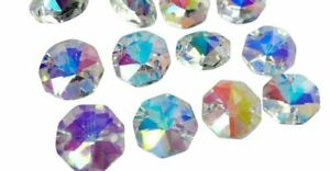 50-Iridescent-AB-Octagon-Chandelier-Crystal-Beads-Octagons