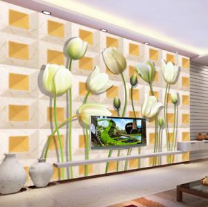 3D Tulips Lattices 75 Wall Paper Murals Wall Print Wall Wallpaper Mural AU Kyra