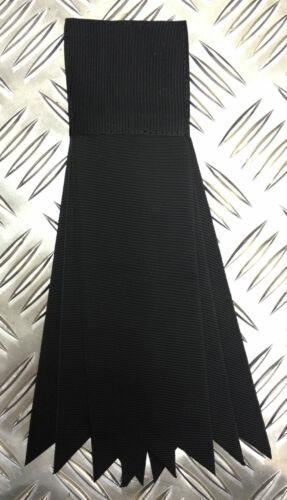 Negro Cinta Decorativa Roseta//Rossette resistente poliéster-Nuevo