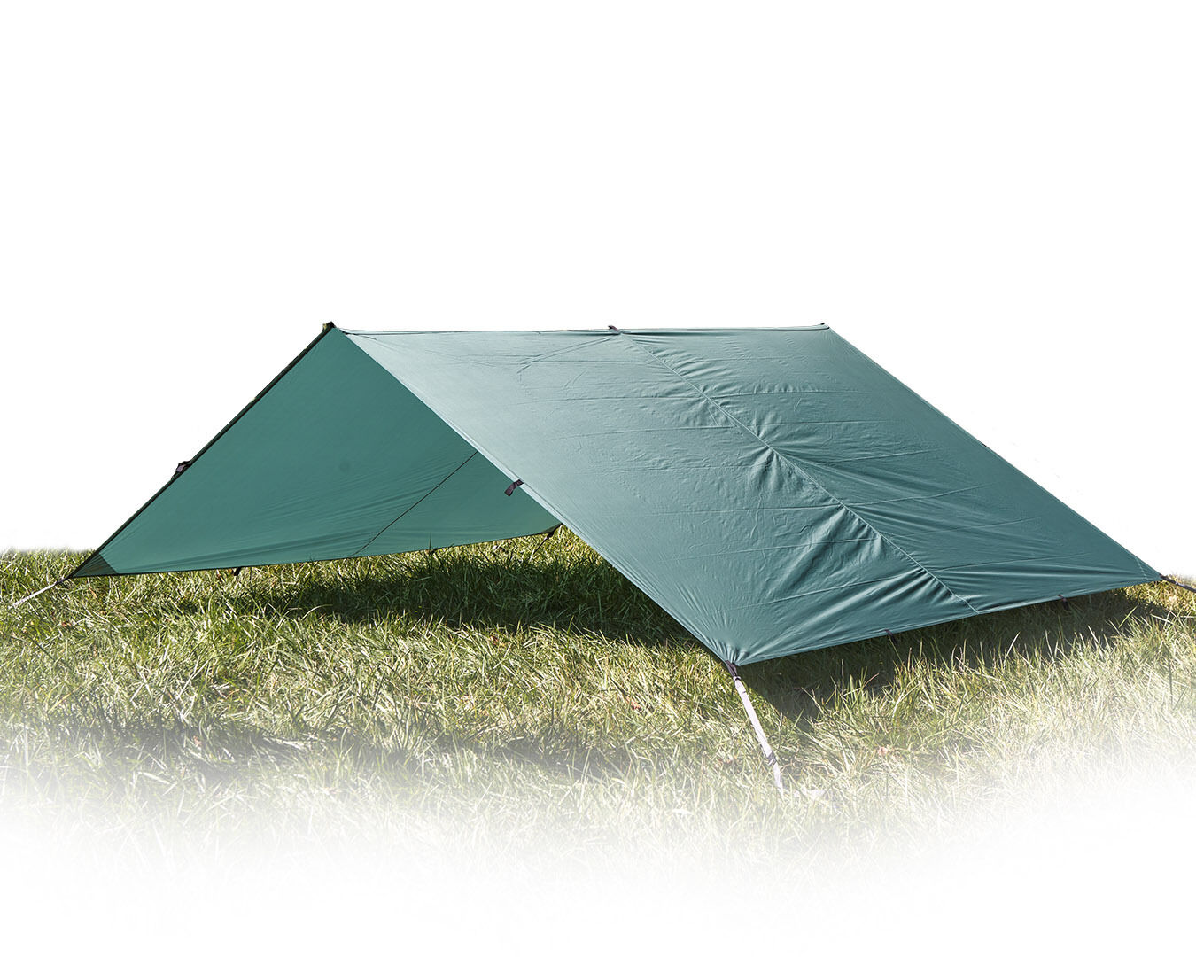 Aqua Quest Guide Sil Tarp Basha - 100% Waterproof Ultralight Large 4 x 3 m Green