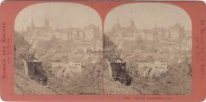 Suisse Losanna Svizzera Panorama Foto Lamy Stereo Vintage Albumina c1870