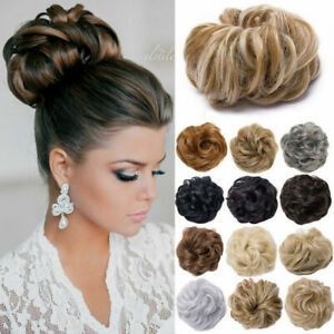 Curly-Messy-Bun-Hair-Piece-Scrunchie-Updo-Fake-Natural-Look-Extensions-Pony-Tail