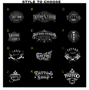 Tattoo Salon Shop Window Stickers Signs Wall Decal Traditional