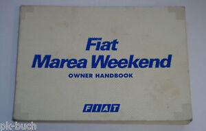Istruzioni Per L'Uso Owner ´ S Manuale Handbook Fiat Marea Weekend, Stand