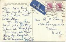 """Hong Kong SG#185(pair) postcard view """""""