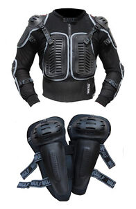 Adults-MX-Motocross-Wulfsport-Wulf-Defender-Jacket-amp-Knee-Pad-Armour-Set-A12