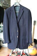 Polo Ralph Lauren Blue Label Navy Herringbone Wool Cashmere Blazer 38R Excellent