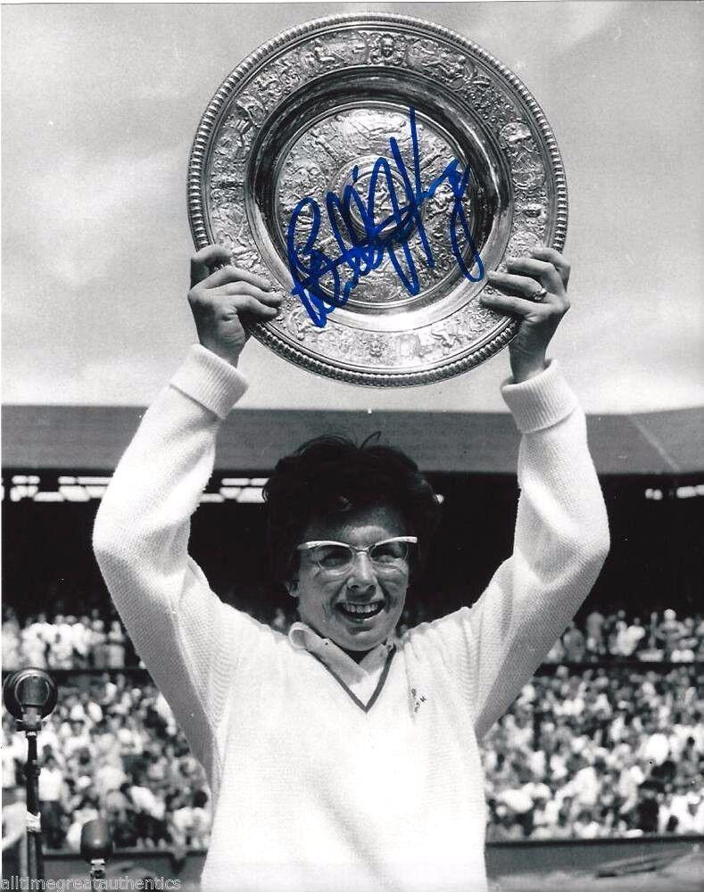 Tennis Légende Billie Jean Jean Billie King Signé Wimbledon Champion 8X10 Photo Coa Preuve C 8c5f82