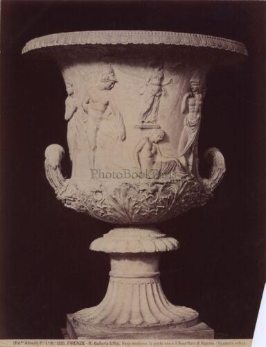 Florenz Florenz Italien Italia Vase Antik Vintage Albumin ca 1880