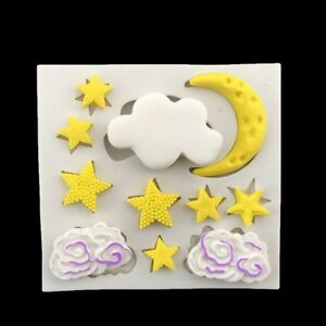 7be13187e DIY Silicone Moon Star Cloud Fondant Cake Mold Baking Chocolate ...