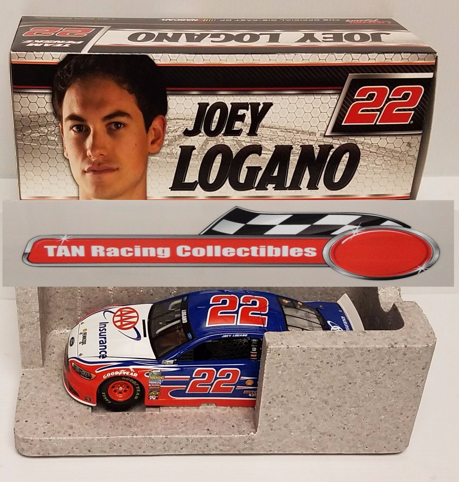 Joey Logano 2017 Lionel  22 AAA Ford Fusion 1/24 FREE SHIP