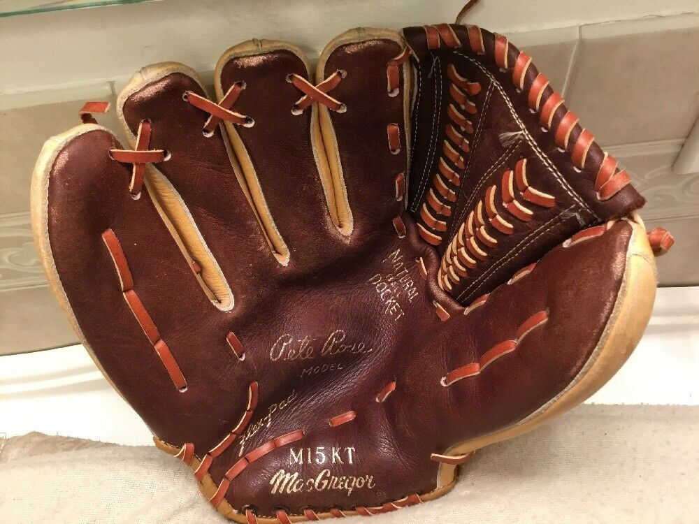 "MacGregor M15KT 11.5"" Pete Rose Baseball Softball Glove Left Hand Throw"