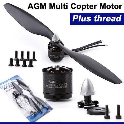 4x AGM MT2216 810KV Brushless Motor mit Prop für DJI Quadcopter CCW Thread
