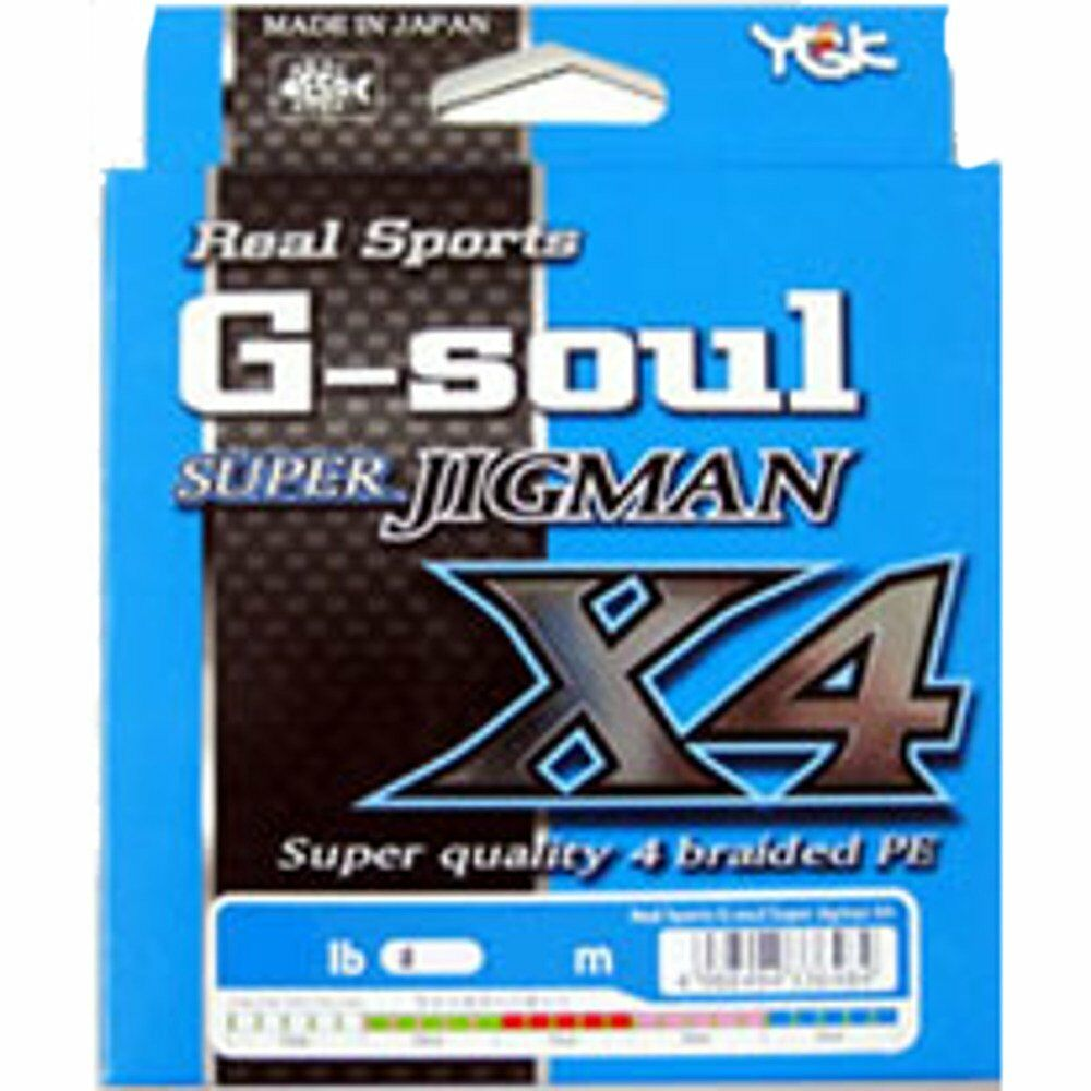 YGK G-Soul Super Jigman X4 600m 30lb Multicolor 4 Braid Line New JAPAN