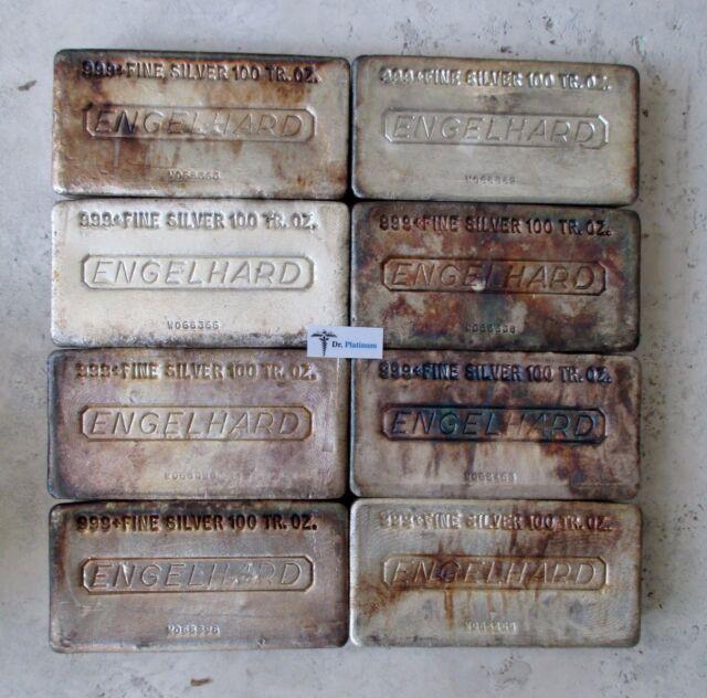"""Engelhard """"W"""" Serial Prefix, 100 oz 999 Silver Bar - DPSB58"""