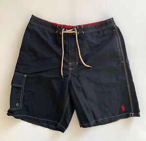 Polo-Ralph-Lauren-Mens-Designer-Board-Shorts-Swim-Trunks-Black-Size-L-or-XL