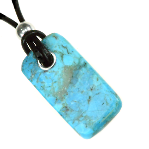 Kingman-Turquoise-Unisex-Pendant-Necklace-Reiki-Healing-Crystal-Power-Energy