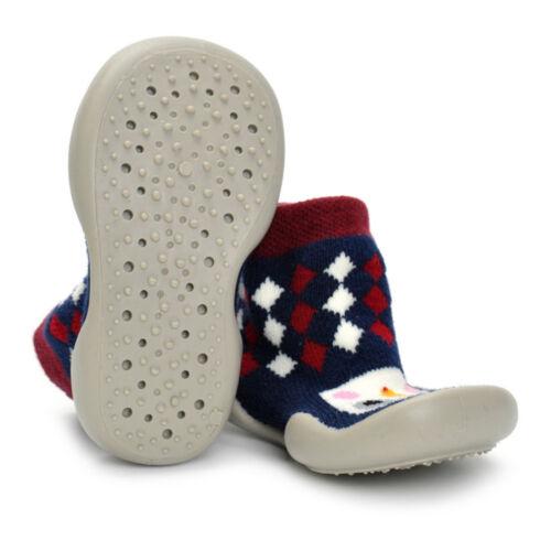 Infant Baby Love Penguin Pattern Anti-slip Rubber First Walking Sock Shoes