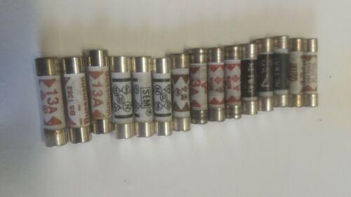 various amperages 13amp plug top fuses x 15