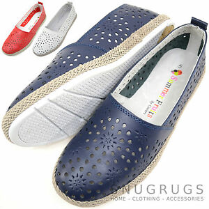 Mujer-Mujer-100-Cuero-Autentico-Verano-Playa-Jardin-Sandalias-Zapatos