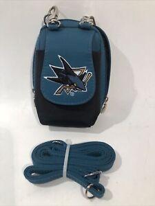San Jose Sharks NHL Teal Mini Wallet / Purse / Camera Case With Shoulder Strap