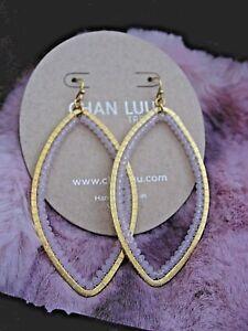 Image Is Loading Chan Luu Earrings Long Gold Hammered Teardrop W