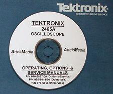 TEKTRONIX  2465A Operationg, Service & Options Manuals