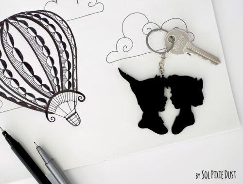 Porte-clés-Peter Pan et Wendy-Silhouette 2