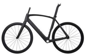 AERO-Road-Bike-Frame-Carbon-Wheel-Rim-Brake-Clincher-Tubeless-700C-Race-49cm-BSA