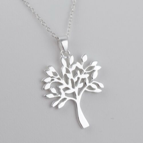 925 Sterling Silver Family Trees Roots Nature Love NEW Tree of Life Necklace