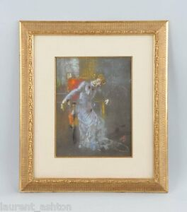 MOSE-BIANCHI-ORIGINAL-PASTEL-PAINTING-EX-BERNASCONI-COLLECTION-CHRISTIES-ITALIAN