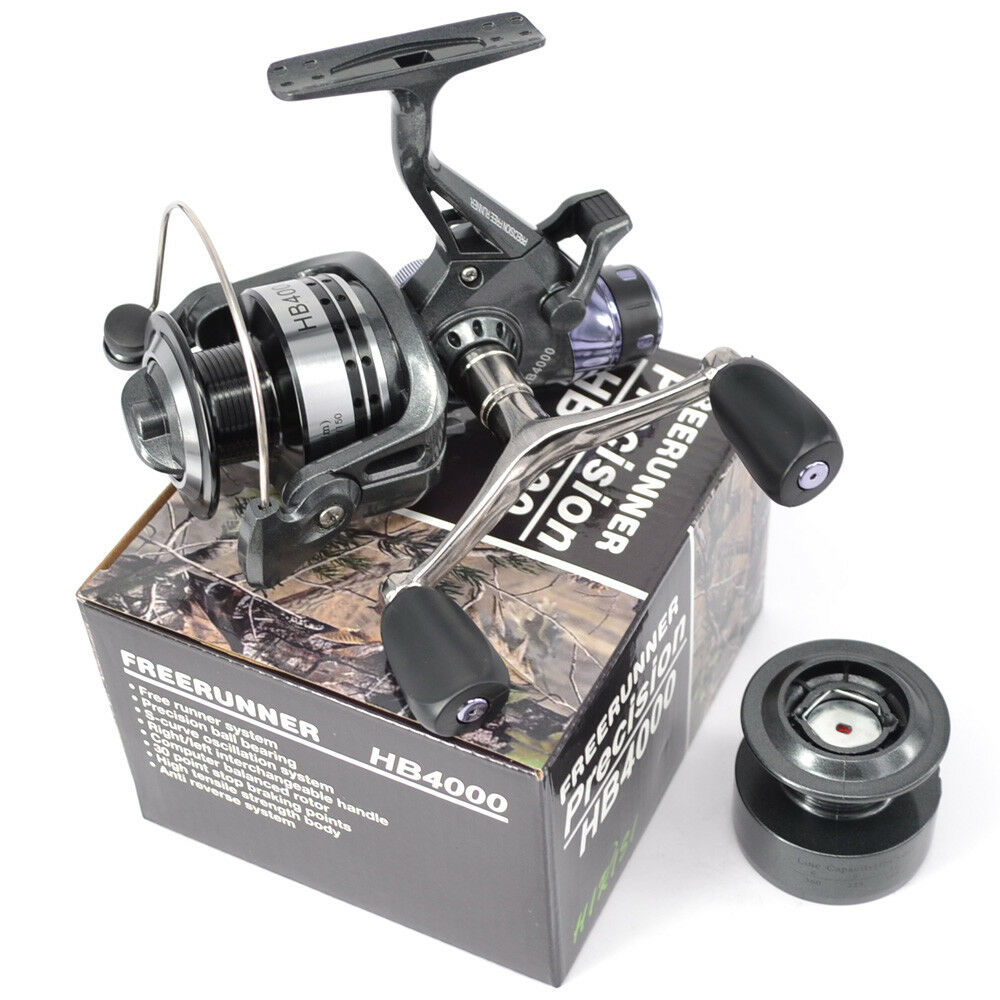 Carp Fishing Reel Free Spool Runner Spinning Reel HB4000 And Free Extra Spool Free 1bfc29