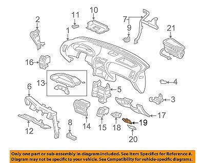 Honda Genuine 77520-SR2-003ZE Glove Box Lock Assembly