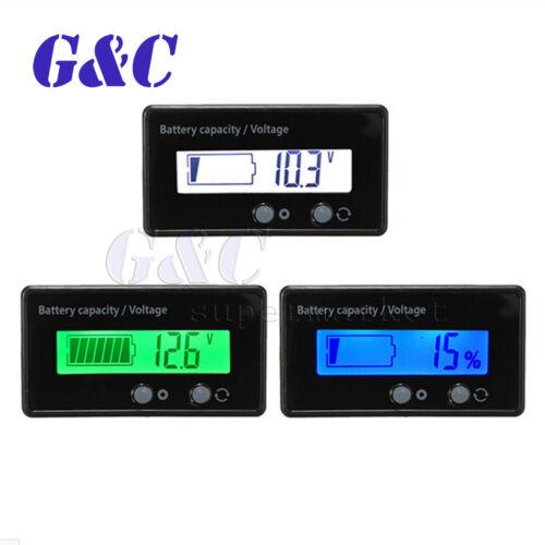 12//24//36//48V acide plomb batterie au lithium capacité indicateur LCD 6-63 V Voltmètre