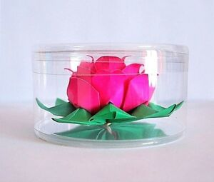 Origami lotus paper flower water lily wedding valentine gift wishing image is loading origami lotus paper flower water lily wedding valentine mightylinksfo