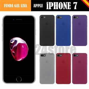 Funda-gel-lisa-Apple-IPHONE-7-4-7-034-protector-cristal-lapiz-memoria-opcio