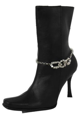 3 Liens Cheville Bottes Chaussure Métal Femme Chaine Argent Occidental Charm En nOPnq6Tw
