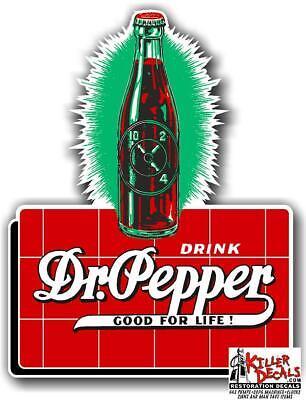 "6/"" DR PEPPER BOTTLE IN HAND COOLER POP soda coca cola machine decal DP-108"