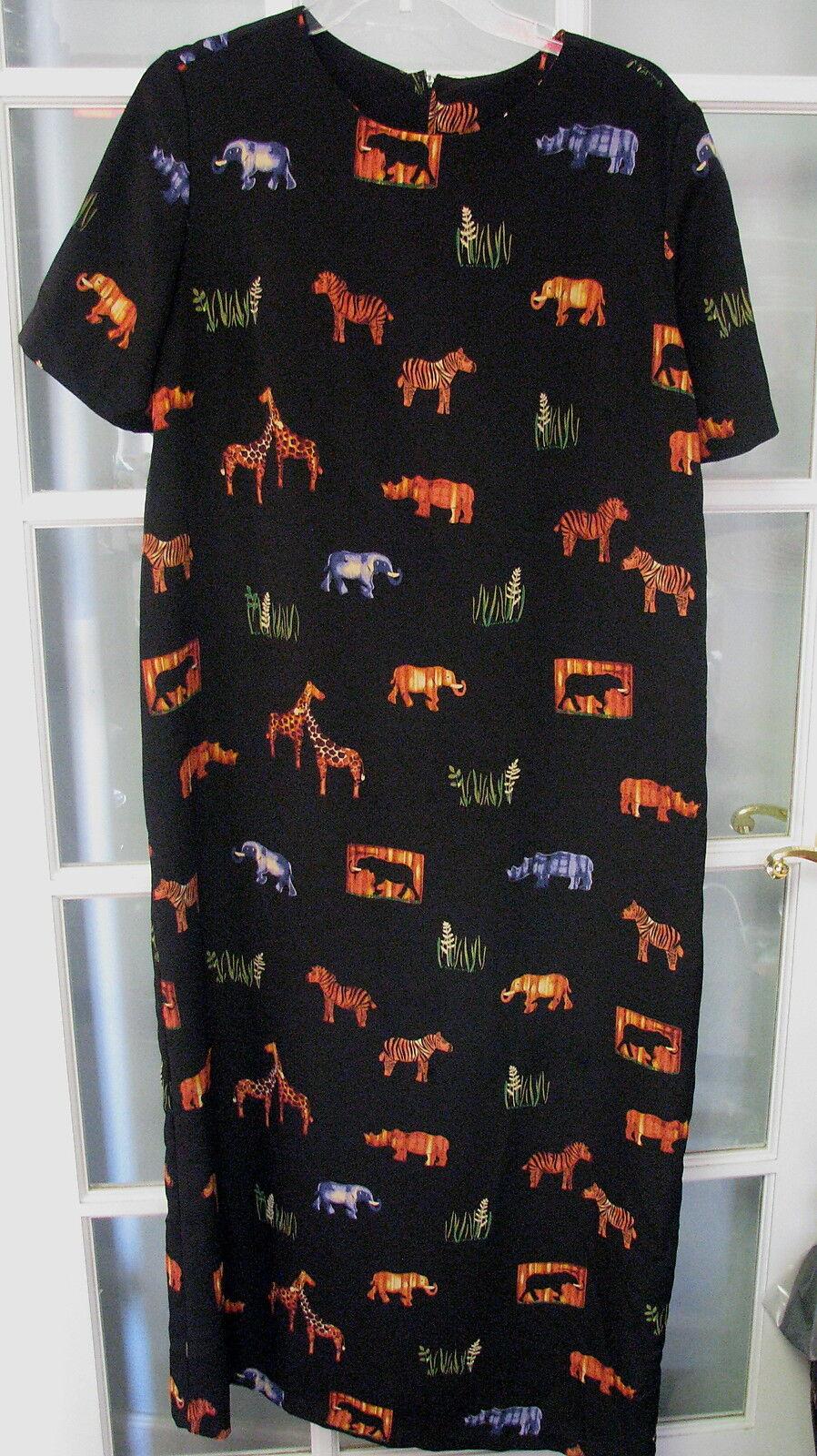 Wild Animal print African safari dress medium dress ladies womens long spring