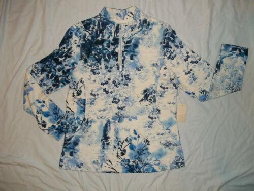 NEW COLDWATER CREEK BLUE HEAVEN WOMANS SIZE XS SMALL SWEATSHIRT//TOP W//HALFZIP